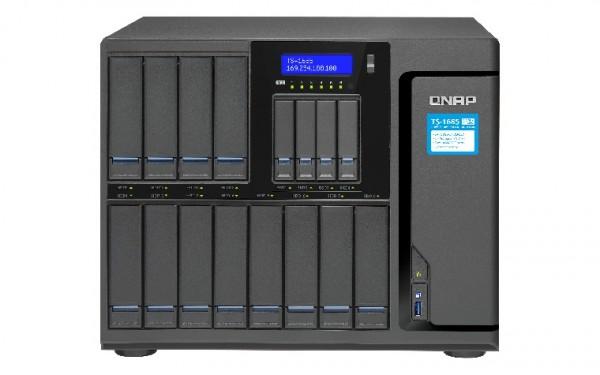 Qnap TS-1685-D1521-16G 16-Bay 120TB Bundle mit 12x 10TB IronWolf Pro ST10000NE0008