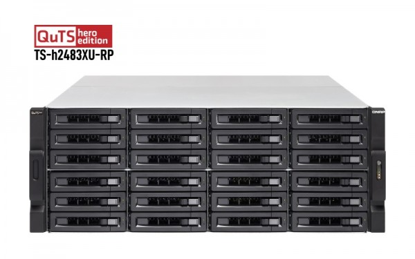QNAP TS-h2483XU-RP-E2236-128G 24-Bay 24TB Bundle mit 12x 2TB Exos