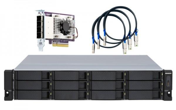 QNAP TL-R1200S-RP 12-Bay 12TB Bundle mit 6x 2TB Gold WD2005FBYZ