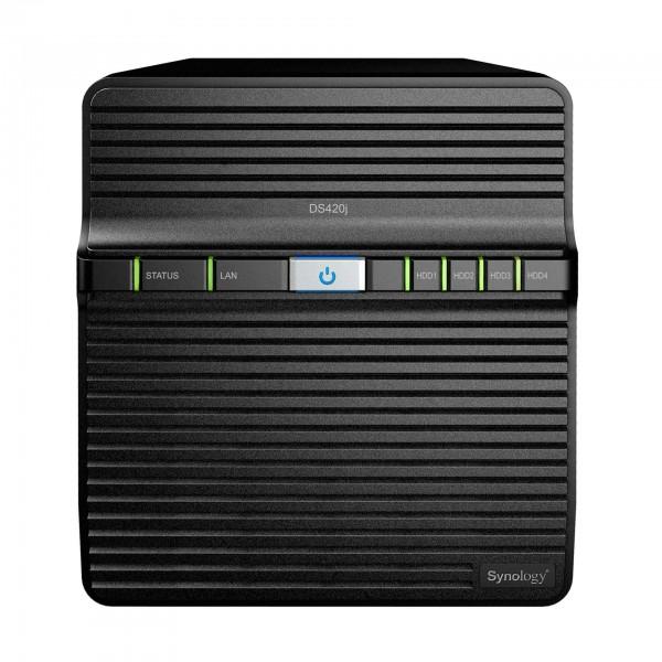 Synology DS420j 4-Bay 4TB Bundle mit 2x 2TB Gold WD2005FBYZ