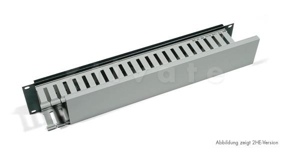 "Triton 19"" Kabelkanal 1HE einseitige Kunststoffleiste (RAC-VP-X02-A1)"