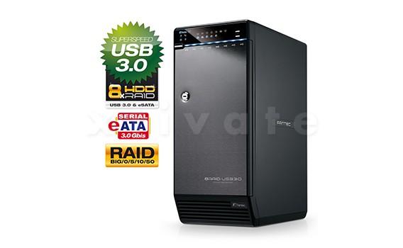 Fantec QB-X8US3R 32TB (8x 4,0TB) RAID USB 3.0 + eSATA