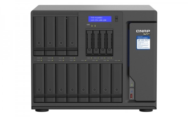 QNAP TVS-h1688X-W1250-64G QNAP RAM 16-Bay 24TB Bundle mit 12x 2TB Red Pro WD2002FFSX