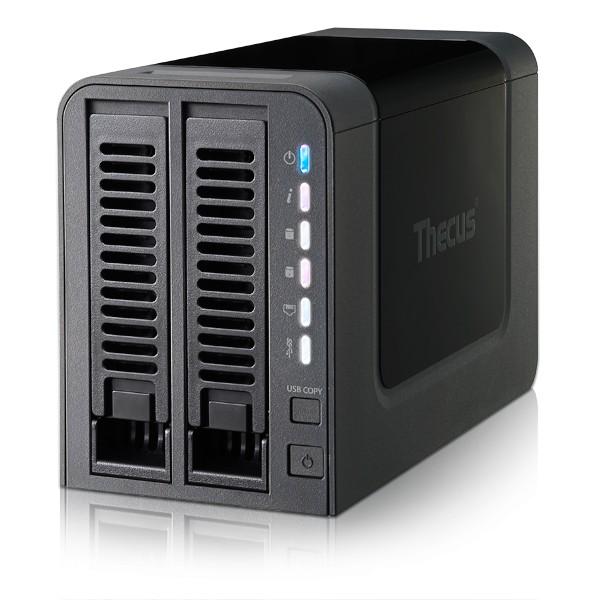 Thecus N2310 2-Bay 1TB Bundle mit 1x 1TB Red WD10EFRX