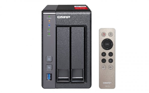 Qnap TS-251+-2G 2-Bay 4TB Bundle mit 2x 2TB Red WD20EFAX