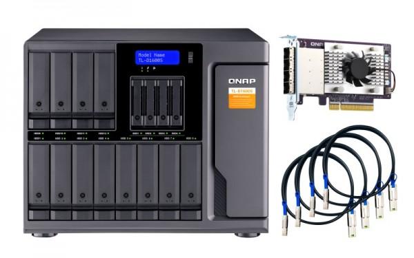 QNAP TL-D1600S 16-Bay 120TB Bundle mit 12x 10TB Gold WD102KRYZ