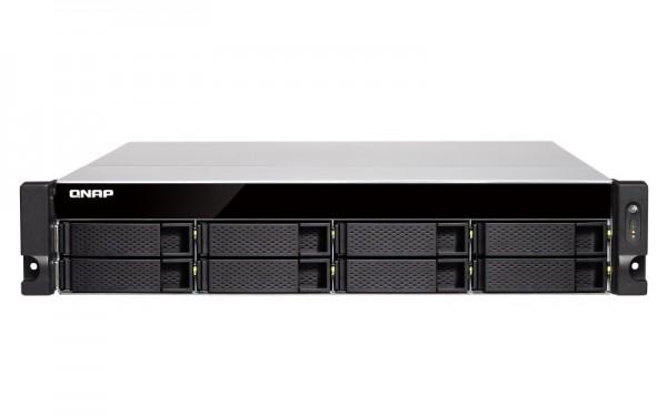 Qnap TVS-872XU-RP-i3-4G 8-Bay 4TB Bundle mit 2x 2TB Red WD20EFRX