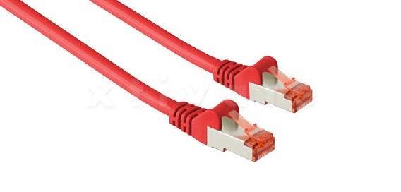 Patchkabel, S-FTP Cat6a, 10GBit, doppelt geschirmt, PiMF, 15m, rot