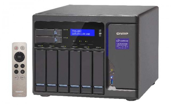 Qnap TVS-882-i5-16G 3.6GHz QuadCore 8-Bay NAS 36TB Bundle mit 6x 6TB WD6002FFWX Red Pro