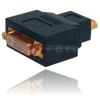 Adapter, HDMI-Stecker auf DVI-D (24+1) Kupplung, vergoldete Kontakte