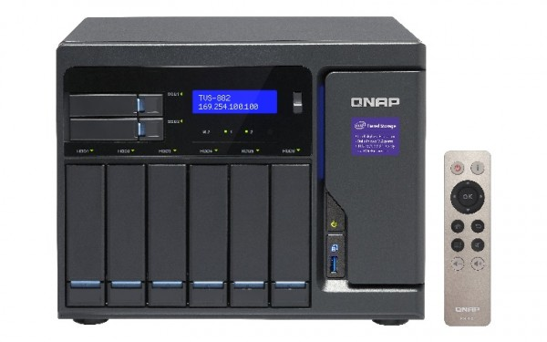 Qnap TVS-882-i3-8G 8-Bay 24TB Bundle mit 4x 6TB Red WD60EFAX