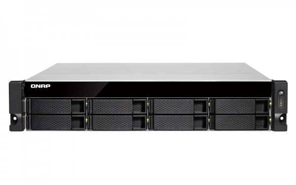 Qnap TS-883XU-RP-E2124-8G 8-Bay 32TB Bundle mit 4x 8TB IronWolf Pro ST8000NE001