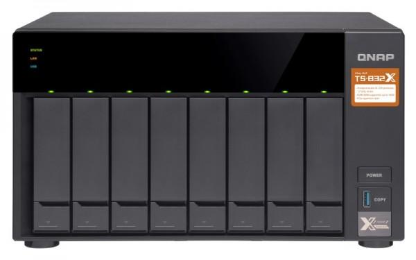 Qnap TS-832X-8G 8-Bay 112TB Bundle mit 8x 14TB Red WD140EFFX