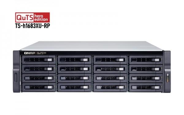 QNAP TS-h1683XU-RP-E2236-128G 16-Bay 64TB Bundle mit 8x 8TB Gold WD8004FRYZ