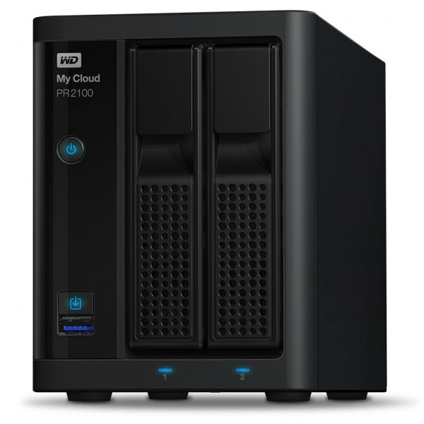 Western Digital My Cloud PR2100 2-Bay 2TB Bundle mit 2x 1TB Red WD10EFRX