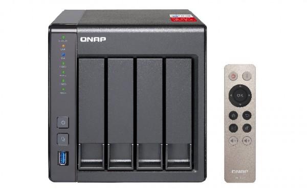 Qnap TS-451+8G 4-Bay 40TB Bundle mit 4x 10TB Red Pro WD102KFBX