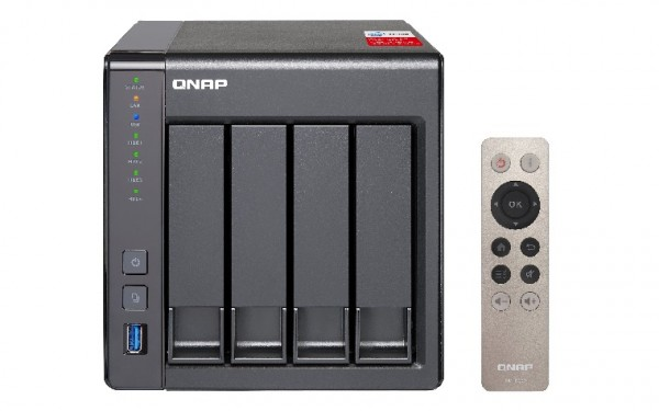 Qnap TS-451+8G 4-Bay 2TB Bundle mit 1x 2TB Red WD20EFAX