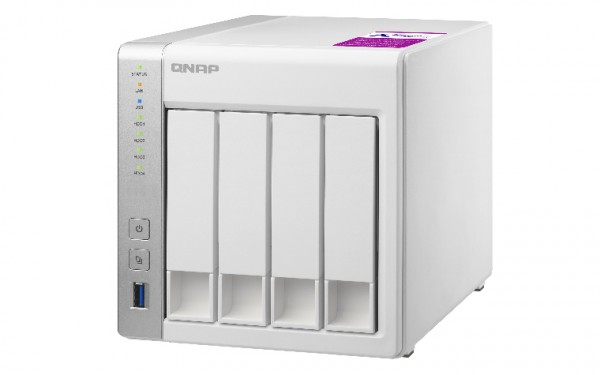 Qnap TS-431P2-1G 4-Bay 8TB Bundle mit 4x 2TB Red WD20EFAX