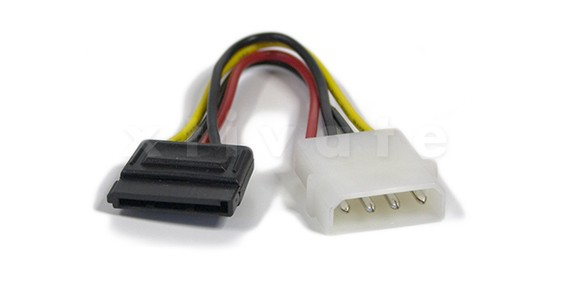Kabel Power SATA Stromanschlusskabel Adapter, 15 cm