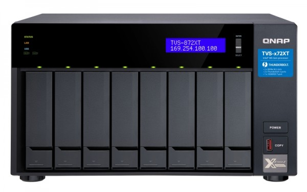 Qnap TVS-872XT-i5-16G 8-Bay 20TB Bundle mit 2x 10TB Red Pro WD102KFBX