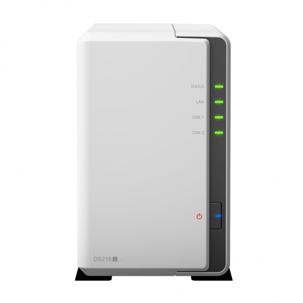 Synology DS218j 2-Bay 16TB Bundle mit 2x 8TB Red WD80EFZX