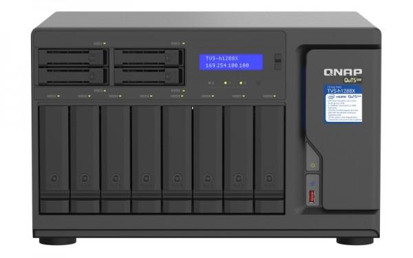 QNAP TVS-h1288X-W1250-128G 12-Bay 80TB Bundle mit 8x 10TB Gold WD102KRYZ