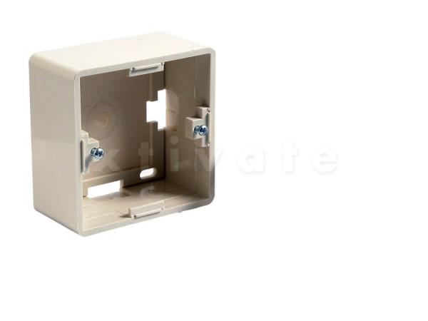 Aufputzgehäuse für Netzwerkdose Cat6a/Cat6/Cat5e und Keystone Pro Serie (RAL 9010)