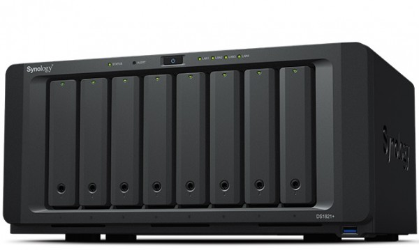 Synology DS1821+ 8-Bay 80TB Bundle mit 8x 10TB Red Plus WD101EFBX