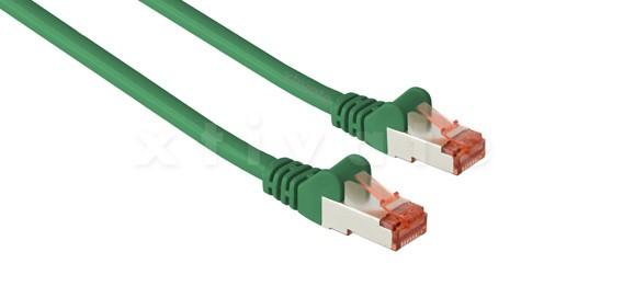 Patchkabel, S-FTP Cat6a, 10GBit, doppelt geschirmt, PiMF, 0,5m, gr