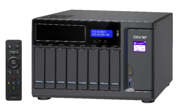 Qnap TVS-882BRT3-ODD-i5-16G 8-Bay 8TB Bundle mit 8x 1TB Red WD10EFRX
