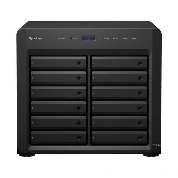 Synology DS3617xsII(16G) 12-Bay 60TB Bundle mit 6x 10TB IronWolf Pro ST10000NE0008