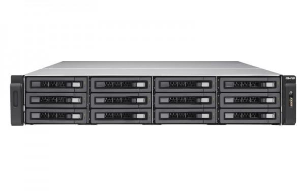 Qnap TVS-EC1280U-SAS-RP-16G-R2 12-Bay 24TB Bundle mit 6x 4TB HGST Ultrastar SAS