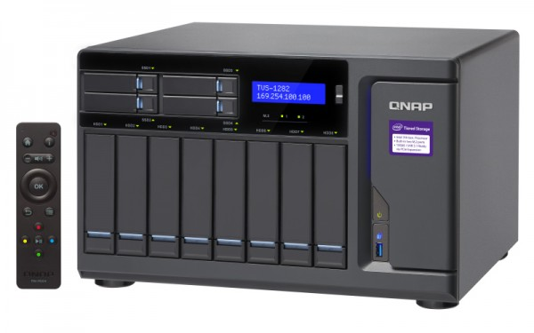 Qnap TVS-1282-i5-16G-450W 12-Bay 32TB Bundle mit 4x 8TB IronWolf ST8000VN0022
