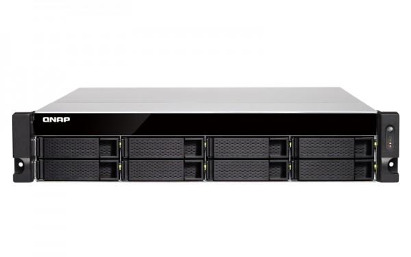 Qnap TS-883XU-E2124-8G 8-Bay 16TB Bundle mit 2x 8TB Red Pro WD8003FFBX