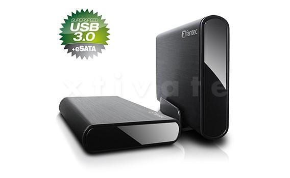 FANTEC DB-ALU3e Gehäuse, USB 3.0 + eSATA