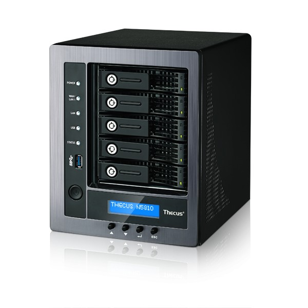 Thecus N5810 5-Bay 10TB Bundle mit 1x 10TB Red Pro WD101KFBX