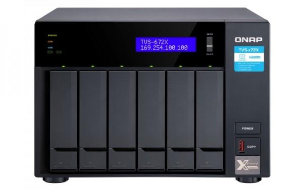 QNAP TVS-672X-i3-8G 6-Bay 70TB Bundle mit 5x 14TB Red Plus WD14EFGX