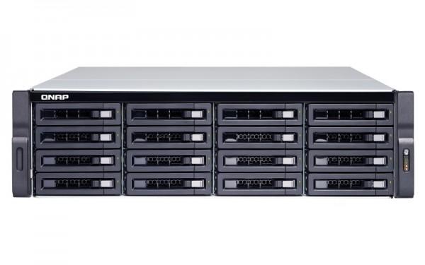 Qnap TVS-1672XU-RP-i3-8G 16-Bay 64TB Bundle mit 16x 4TB Red Pro WD4003FFBX