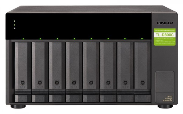 QNAP TL-D800C 8-Bay 64TB Bundle mit 8x 8TB Red Plus WD80EFBX