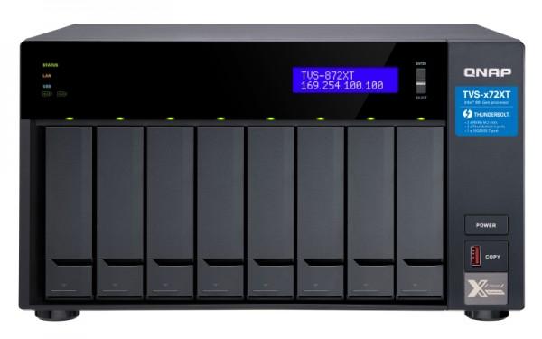 Qnap TVS-872XT-i5-32G 8-Bay 72TB Bundle mit 4x 18TB IronWolf Pro ST18000NE000