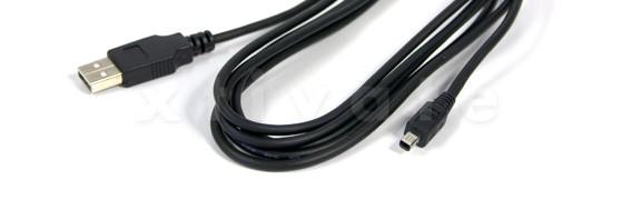 USB Kabel A Stecker zu B-Mini Stecker 1,8 m, (USB 2.0 und 1.1)
