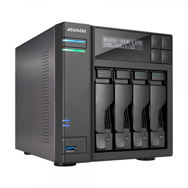 Asustor AS7004T-I5 4-Bay 24TB Bundle mit 2x 12TB Gold WD121KRYZ
