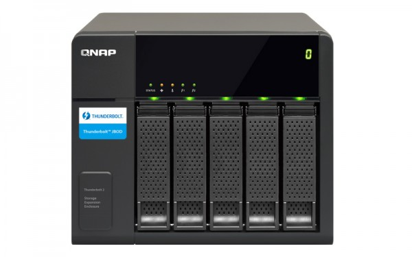 Qnap TX-500P 5-Bay 10TB Bundle mit 5x 2TB Red WD20EFAX