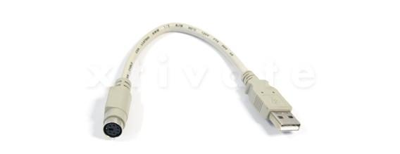 USB Adapter A Stecker zu PS/2 Port, 0,2 m