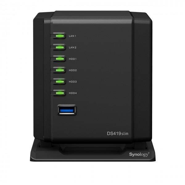 Synology DS419slim 4-Bay 8TB Bundle mit 4x 2TB Samsung SSD 860 Evo