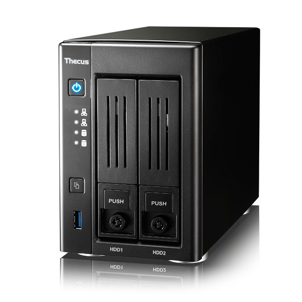 Thecus N2810PRO 2-Bay 1TB Bundle mit 1x 1TB Red WD10EFRX