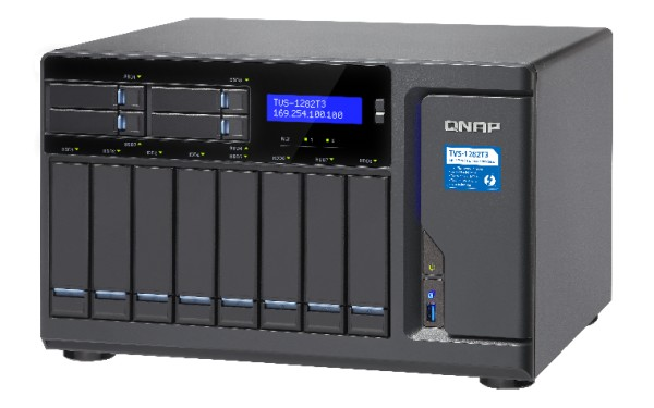 Qnap TVS-1282T3-i7-64G 12-Bay 80TB Bundle mit 8x 10TB IronWolf ST10000VN0008