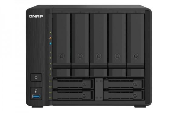 QNAP TS-932PX-8G QNAP RAM 9-Bay 36TB Bundle mit 3x 12TB Ultrastar