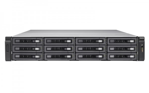 Qnap TVS-EC1280U-SAS-RP-16G-R2 12-Bay 24TB Bundle mit 12x 2TB HGST Ultrastar SAS