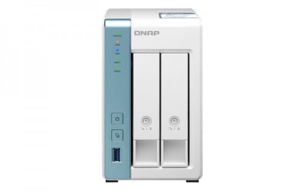 QNAP TS-231P3-2G 2-Bay 8TB Bundle mit 2x 4TB Red WD40EFAX